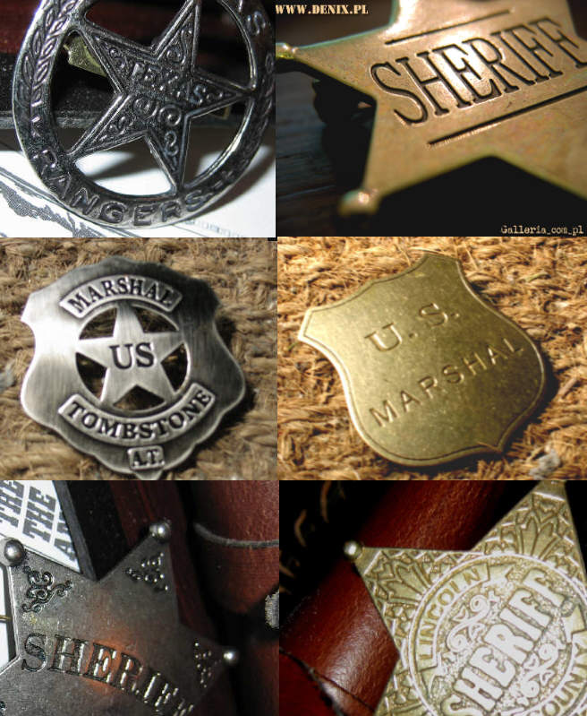 Gwiazdy Szeryfa - Sheriff prezent jako odznaka wyróżnienia