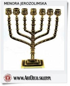 Menora jerozolimska jako prezent