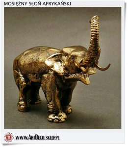 Sloń mosiężna figurka - statuetka