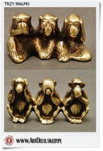 trzy malpki 206x300 Figurka  Statuetka trzy małpki KIKAZARU   MIZARU   IWAZARU