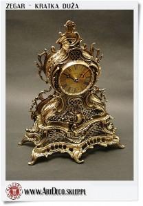 Duży mosiężny zegar