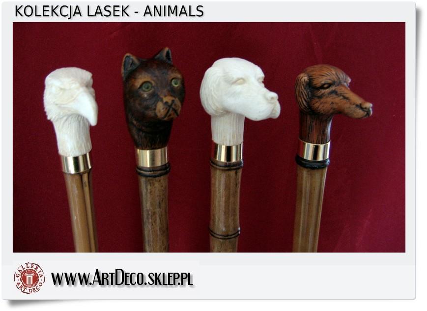 Cztery laski kolekcjonerskie Pies, Kot, Orzeł