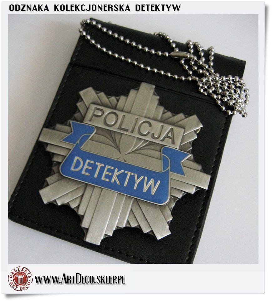 Odznaka detektyw policja