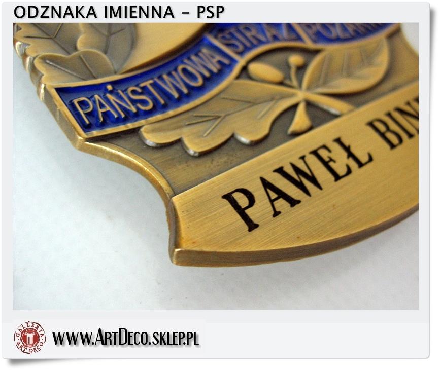 odznaka imienna PSP