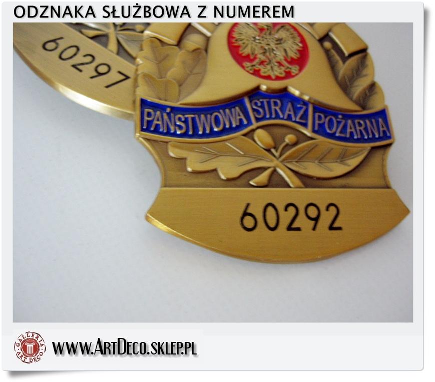 odznaka PSP z numerem
