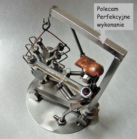 Figurka mechanik samochodowy