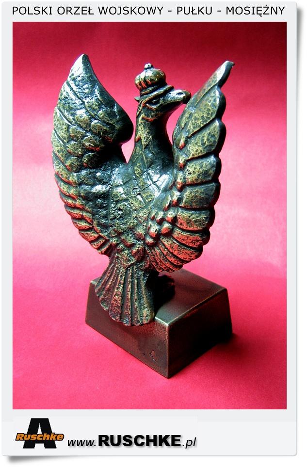 Mosiężna figurka statuetka Orła wojskowego