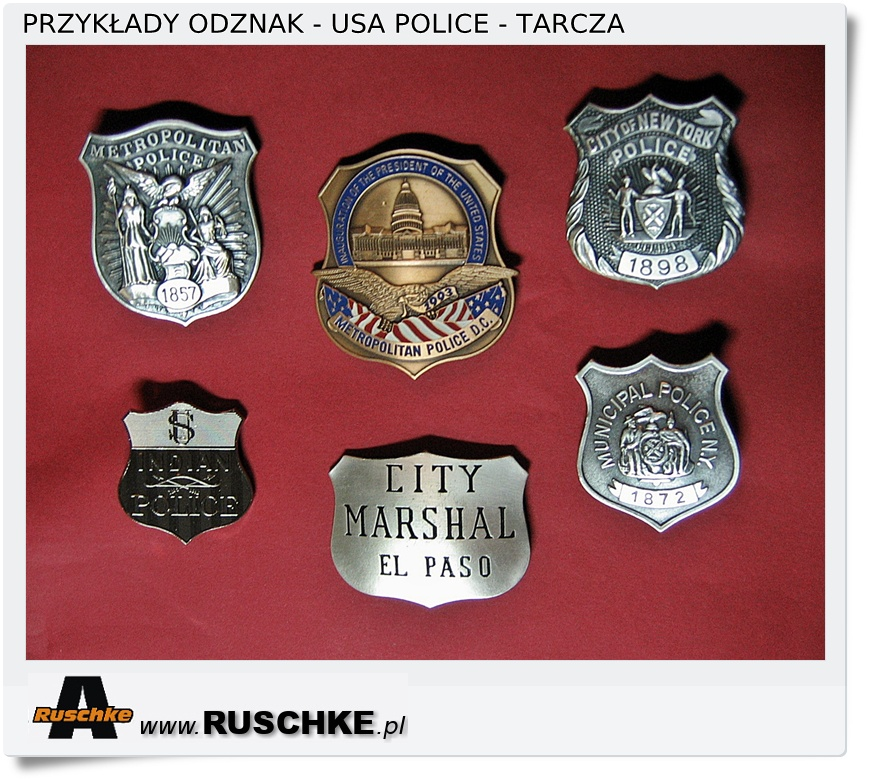 odznaka policja usa