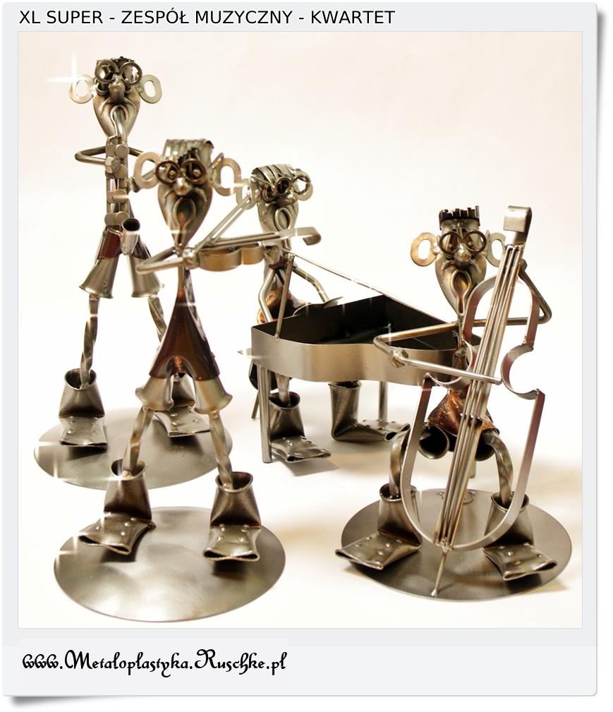 metalowe figurki muzykantów